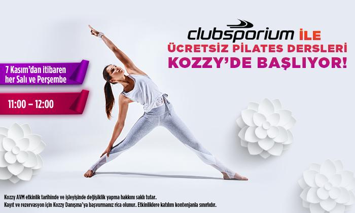 Clubsporium ile Ücretsiz Pilates Dersleri Kozzy'de Başlıyor!
