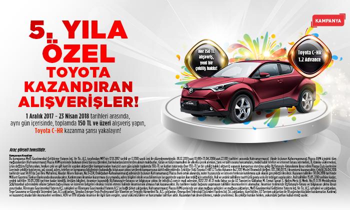 5. Yıla Özel Toyota Kazandıran Alışverişler