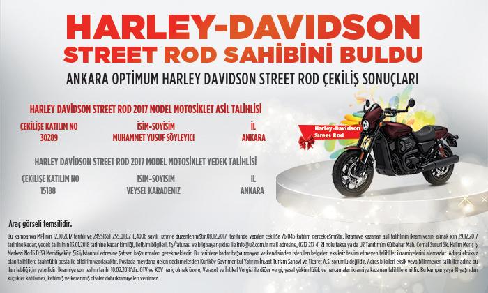 Harley Davidson Street Rod Sahibini Buldu